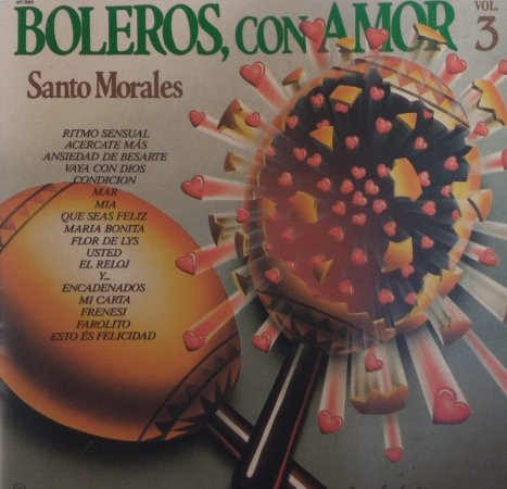 CD - Santo Morales - Boleros con Amor - Vol. 3