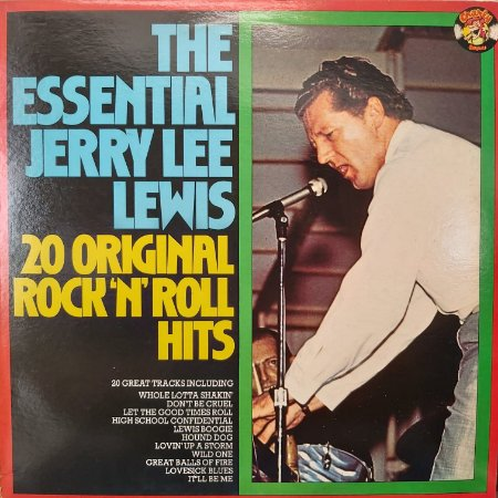 LP - Jerry Lee Lewis – The Essential Jerry Lee Lewis - 20 Original Rock'n'Roll Hits (Importado UK)