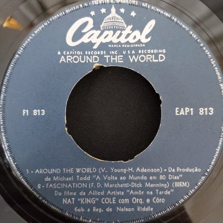 """COMPACTO - Nat """"King"""" Cole - Around The World / Fascination / An Affair To Remember / There's a Gold Mine  - (Importado US) (7"""")"""