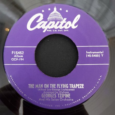 """COMPACTO - Georges Tzipine - The Man On The Flying Trapeze / Fiddle Faddle (Importado US) (7"""")"""