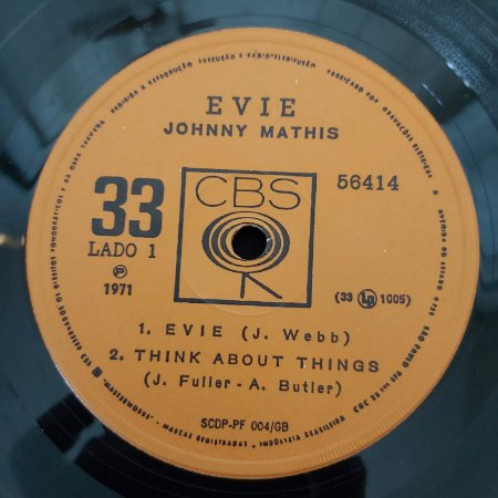 COMPACTO - Evie Johnny Mathis - Evie / Think About / It's Impossible / For The Good Time (Vários Artistas)