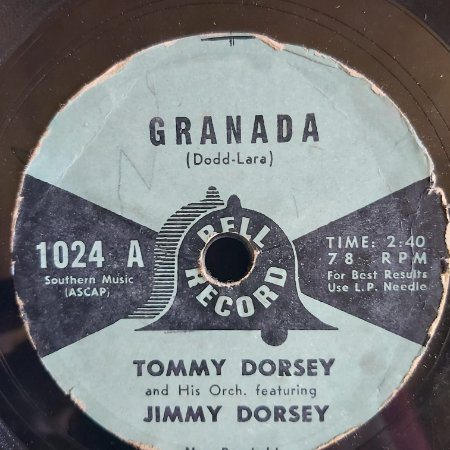 COMPACTO - Tommy Dorsey And Jimmy Dorsey - Granada / You Are My Everything (Importado US)