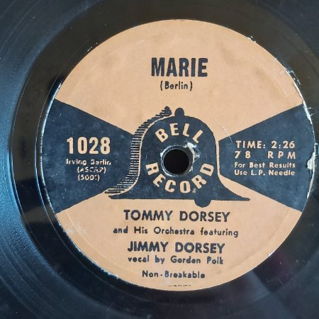COMPACTO - Tommy Dorsey And Jimmy Dorsey - Marie  (Importado US)