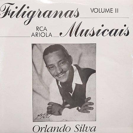 LP - Orlando Silva - Filigranas musicais da R.C.A. - Volume II
