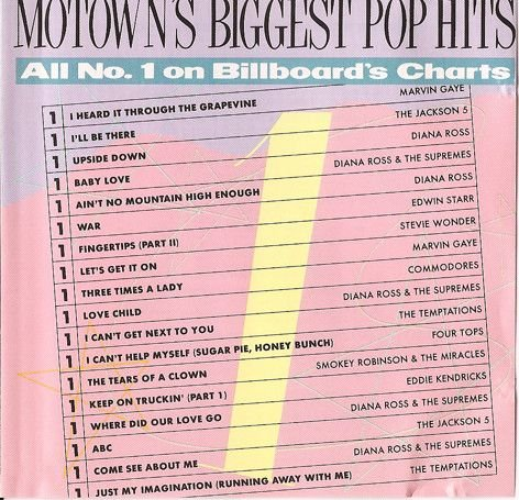 CD - Various – Motown's Biggest Pop Hits: All #1 On Billboard's Charts - IMP