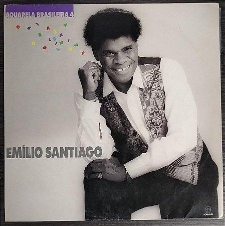 LP - Emílio Santiago - Aquarela Brasileira 4