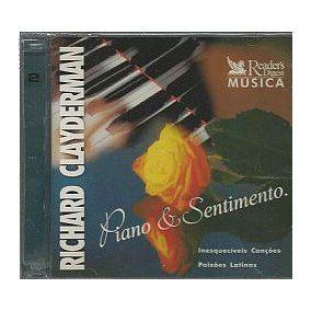 CD - Richard Clayderman  - Piano & Sentimento - 3 e 4