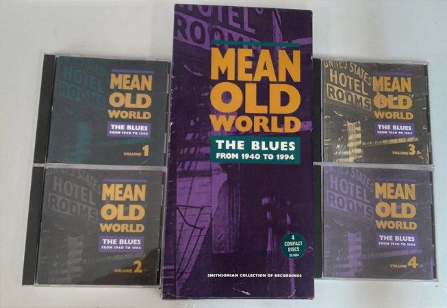 CD BOX -  Various - Mean Old World The Blues  [Volume 1 ao 4 ] + Livreto - IMP.