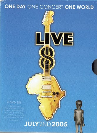 DVD - Various ‎– Live 8: One Day, One Concert, One World BOX 4 DVDs - IMPORTADO