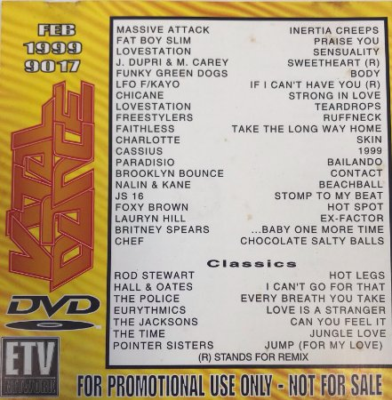 Various - ETV - Vital Dance - FEB 1999 9017 - For Promotional Use Only - Not For Sale