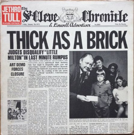 CD - Jethro Tull ‎– Thick As A Brick - Imp
