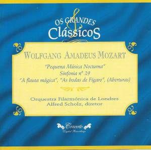 CD - Wolfgang Amadeus Mozart - Pequena Música Nocturna (Coleção Os Grandes Clássicos)