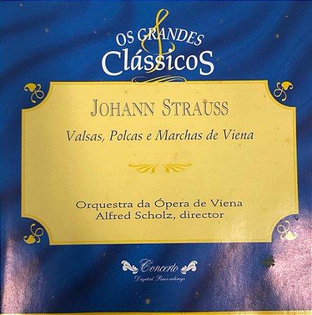 Johanns Strauss - Valses Y Polcas - Orquestra da Ópera de Viena - Alfred Scholz, director / Os Grandes Clássicos