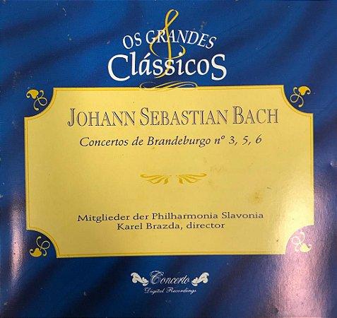 CD - Johann Sebastian Bach - Concertos de Brandeburgo N.3,5,6 - Os Grandes Clássicos.