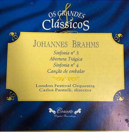 CD - Johannes Brahms - Sinfonia N.3 Abertura Trágica, Sinfonia N.4 Canção de Embalar - Os Grandes Clássicos