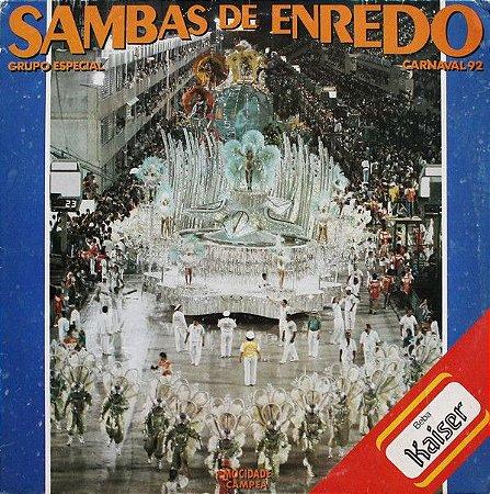 LP - Various – Sambas de Enredo 92 - Grupo Especial  