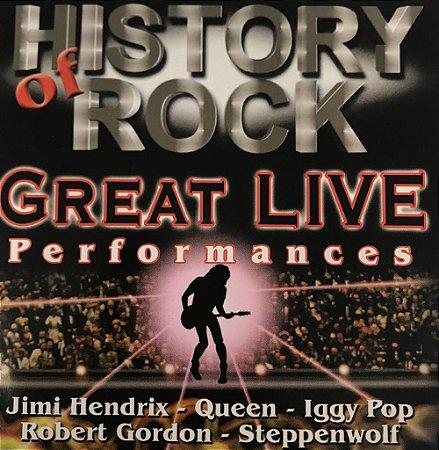CD - History Of Rock - Great Live Performances (Vários Artistas)