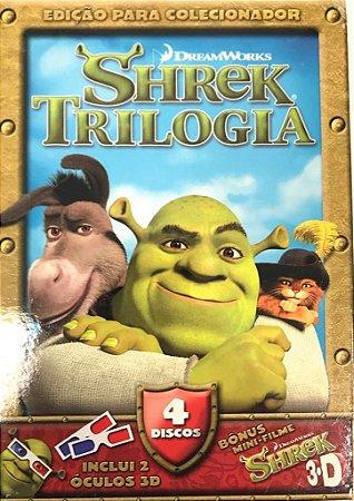 DVD - Sherek Trilogia - Box