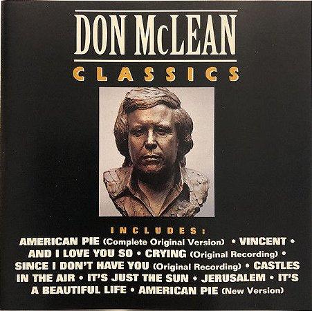 CD - Don McLean – Classics - IMP ( sem contracapa )