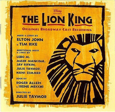CD - The Lion King - Original Broadway Cast Recording - IMP (Vários Artistas)