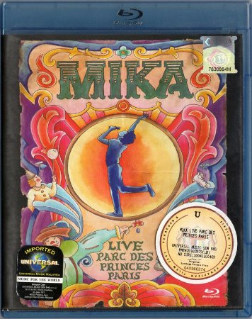 Blu-ray - Mika - Live Park Des Princes Paris (Novo / Lacrado- Promo)
