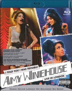 Blu-ray - Amy Winehouse – I Told You I Was Trouble - Live In London ( NOVO )
