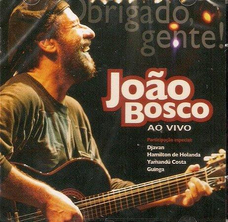 CD - João Bosco – Obrigado, Gente! (João Bosco Ao Vivo) - DIGIPAK PROMO