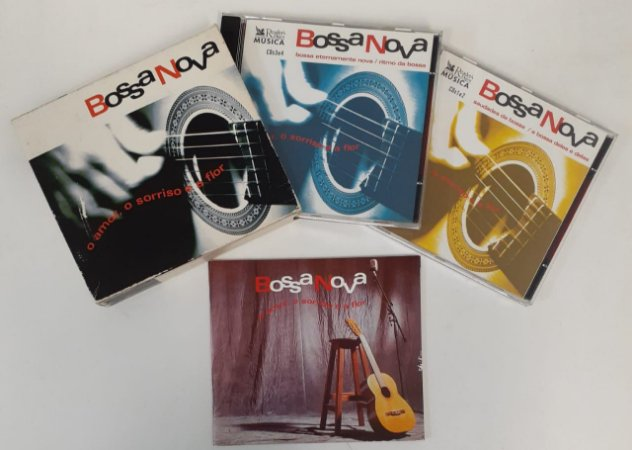 CD - Box Bossa Nova O Amor, O Sorriso E A Flor (4 CDs)