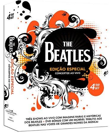 DVD - The Beatles - Concertos ao Vivo - Edição Especial - Box Com 4 DVDs - Exclusivo