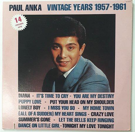 LP - Paul Anka Vintage Years 1957 - 1961 (Importado (US))