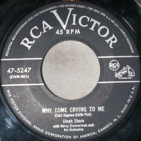 COMPACTO - Dinah Shore - Why Come Crying To Me / Sweet Thing (EUA)