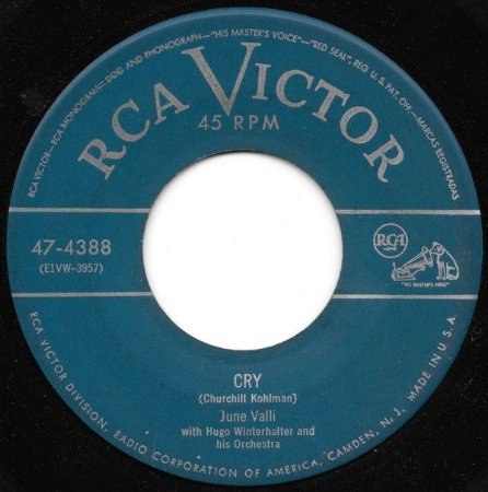 COMPACTO - June Valli - Cry / The Theree Bells (EUA)