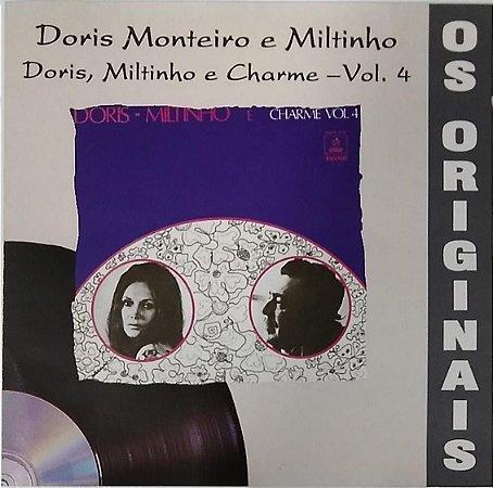 CD - Dóris Monteiro E Miltinho – Doris - Miltinho E Charme Vol. 4 (Coleção Os Originais)