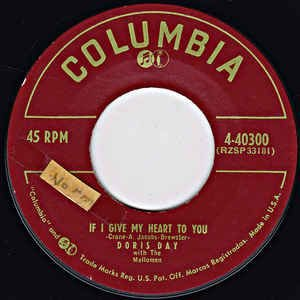 Compacto - Doris Day With The Mellomen / Doris Day With Frank De Vol & His Orch.* – If I Give My Heart To You / Anyone Can Fall In Love