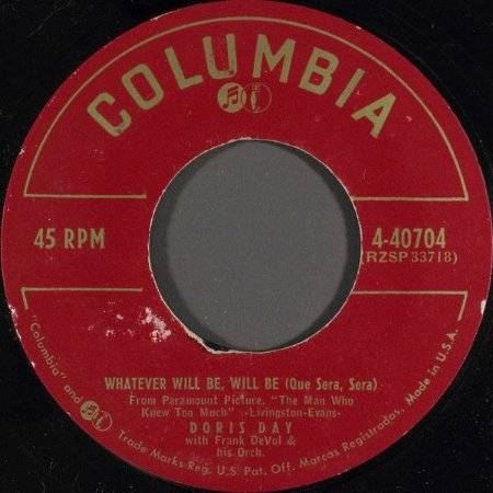 Compacto - Doris Day – Whatever Will Be, Will Be (Que Sera, Sera) / I've Gotta Sing Away These Blues