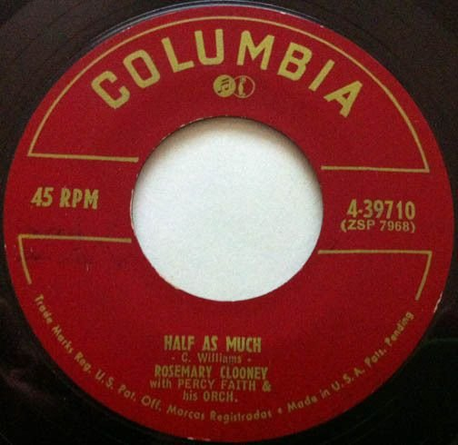 Compacto - Rosemary Clooney - Metade Disso / Poor Whip Poor - Will