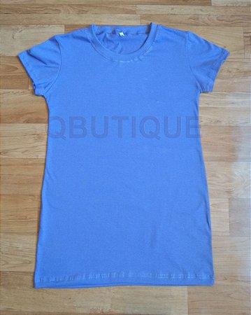 Camiseta Baby Look long Lilás