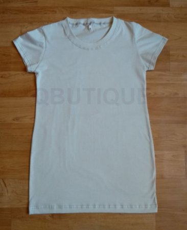 Camiseta Baby Look long Cinza Claro (gelo)