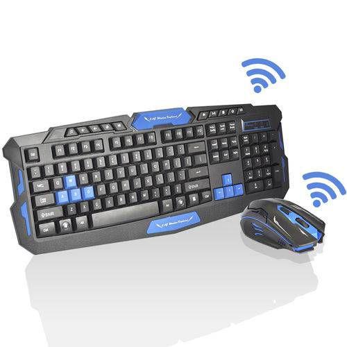 Kit Gamer Mouse e Teclado Sem Fio HK8100