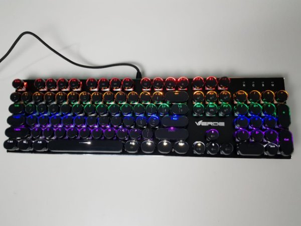 Teclado Mecanico Verde JP-JX200 RGB Switch Blue