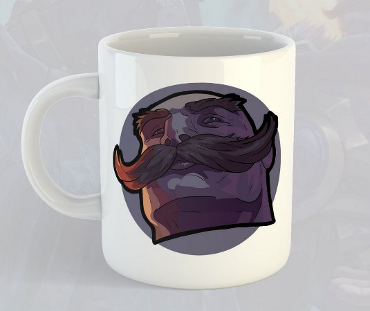 Caneca Braum League of Legends