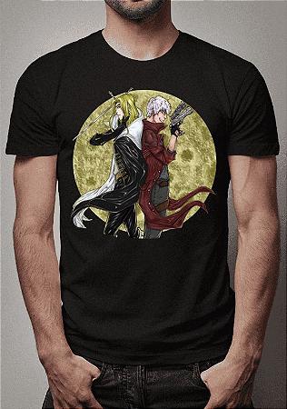Camiseta Crossover Alucard e Dante