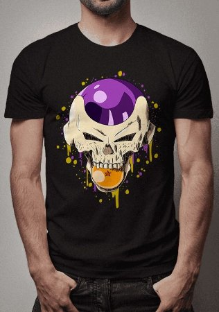 Camiseta Freeza Skull  Dragon Ball