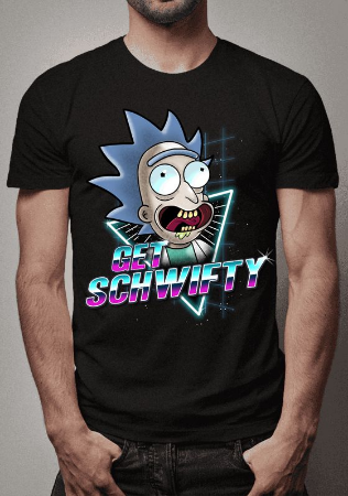 Camiseta Get Schwifty Rick and Morty