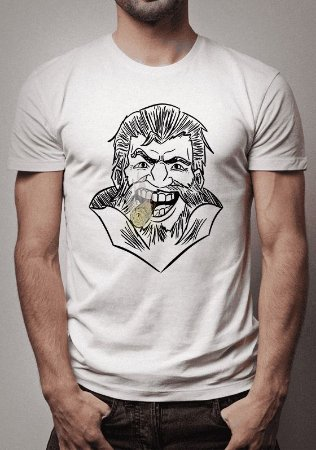Camiseta Graves Sketch League of Legends