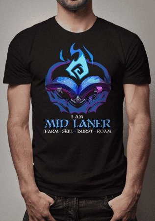 Camiseta Mid Laner League of Legends