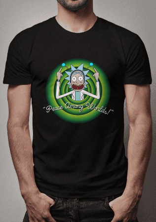 Camiseta Peace Among Worlds Rick and Morty