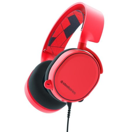 Headset Gamer Steelseries Arctis 3 Red 7.1
