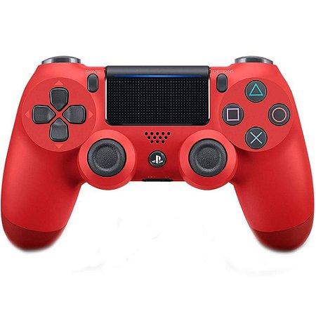 Controle Sony Dualshock 4 Sem fio PS4 Magma Vermelho