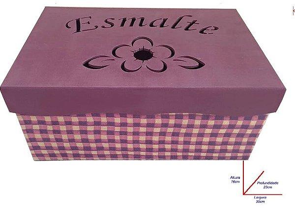 Porta Esmalte rosa
